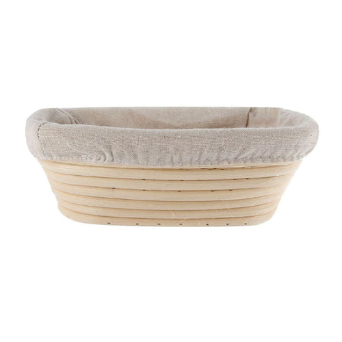 Oval shaped bread proofing basket