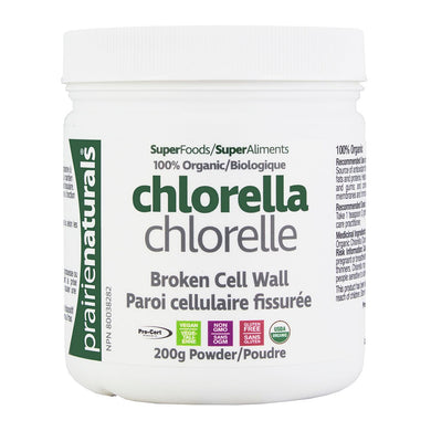 Prairie Naturals - Organic Chlorella (Broken Cell Wall) Powder