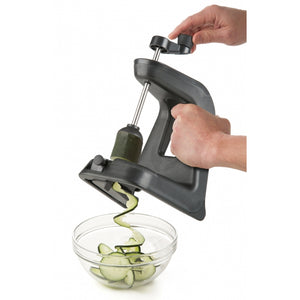 a PL8 Professional Spiralizer being used