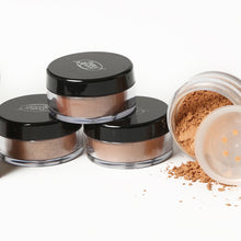 Load image into Gallery viewer, 4 jars of Pure Anada Luminous Bronzer Loose Minerals; one opened