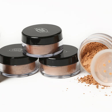 4 jars of Pure Anada Luminous Bronzer Loose Minerals; one opened