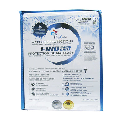 front of Frio 5-Sided Mattress Protector package
