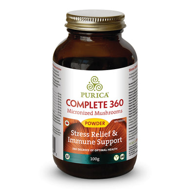 bottle of Purica Complete 360 powder