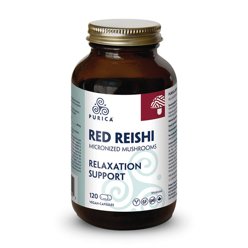 Purica Red Reishi, 60 capsule bottle