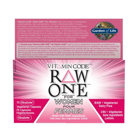 Garden of Life - Vitamin Code - Raw One for Women