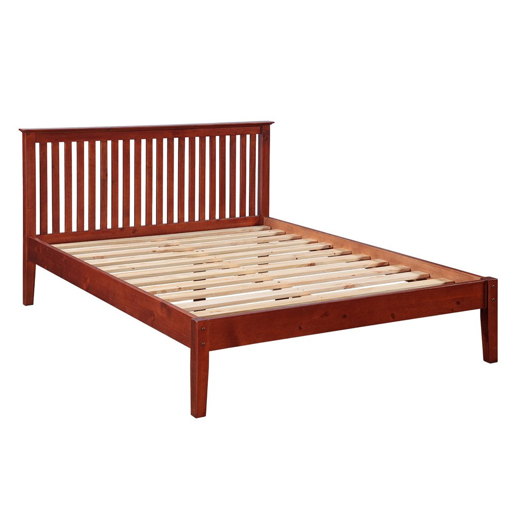 Renelle Newport Platform Bed in Antique Honey finish