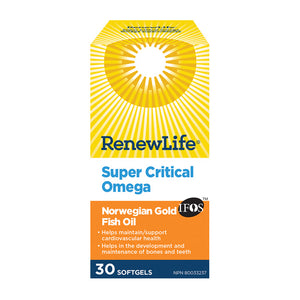 Renew Life Super Critical Omega Norwegian Gold Fish Oil