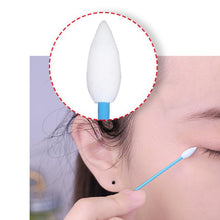 Using tapered tip on Applicator Reusable Swab to apply eyeshadow & Close-up of Tip