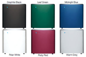 the 6 Different Colours for the Blueair Sense Plus Model