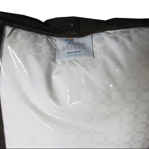 one side of PureCare Plush Down Light Pillow, showing cover