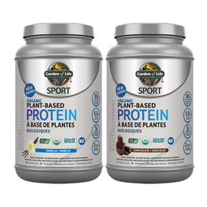 Garden of Life SPORT Organic Plant-Based Protein, Canadian labels