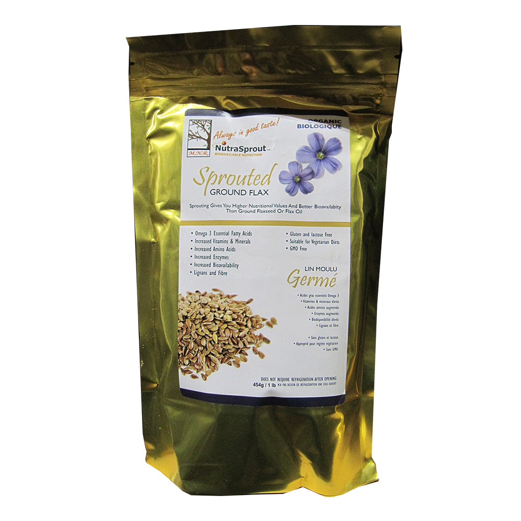 1 lb Bag of NutraSprout Sprouted Ground Flax