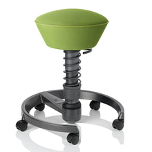 Swopper AIR Chair, Lime Green, With Wheels