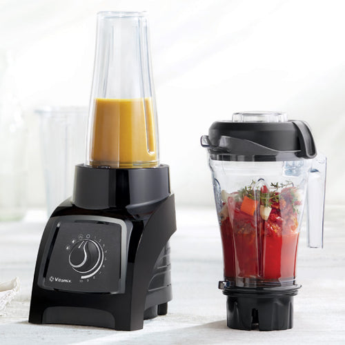 Vitamix Personal Blender S50 with its two containers in use