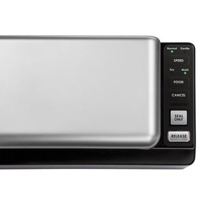 control panel on SousVide Supreme Deluxe Vacuum Sealer