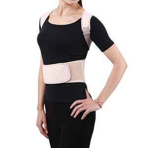 wearing a Relaxus Posture Belt, front view