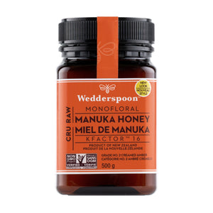 500g Jar of Wedderspoon KFactor 16 Manuka Honey
