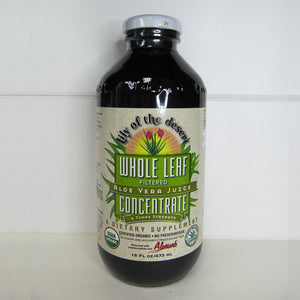 473ml bottle of Whole Leaf Filtered Aloe Vera Juice Concentrate