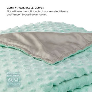 Close-up of washable Duvet Cover for Zensory Kids Weighted Blanket