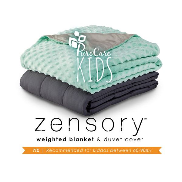 Zensory Kids 7 lb Weighted Blanket with Duvet Cover