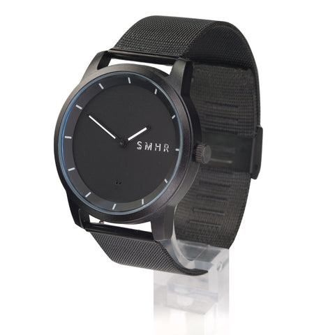 Black w/White Hands - Stainless Steel Strap - Smart Hour