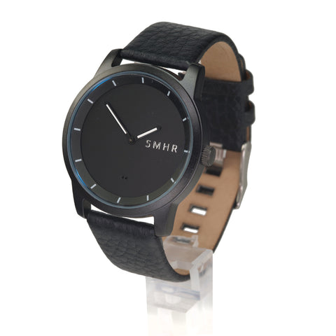 Black w/White Hands - Genuine Leather - Smart Hour