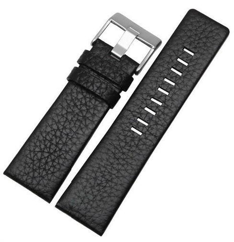 Black Genuine Leather Band - Smart Hour