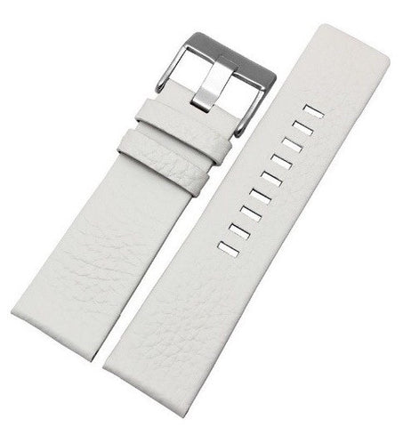 White Genuine Leather Band - Smart Hour