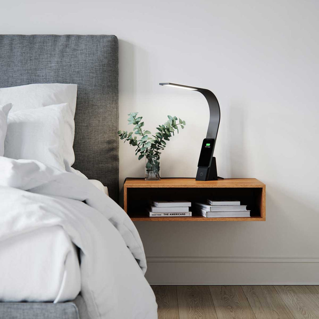 Brooklyn Aura LED Task Lamp with a wireless qi fast-charging