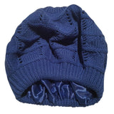 Satin Lined Knit Beret Hat
