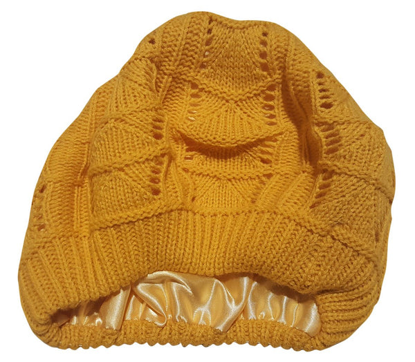 27266e949074a Satin Lined Knit Beret Hat – Always Eleven