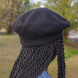 Satin Lined Wool Beret- Roomy Style - Always Eleven