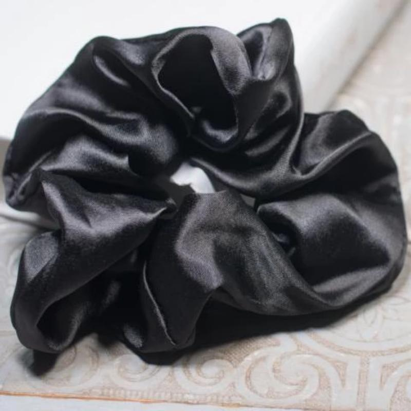 Large Premium Satin Hair Scrunchies (2 Pack) - Always Eleven