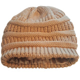 Satin Lined Knit Beanie Hat