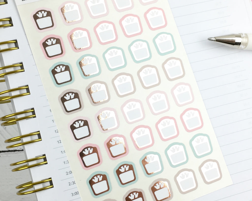 Weight Icon Stickers - Notes & Clips