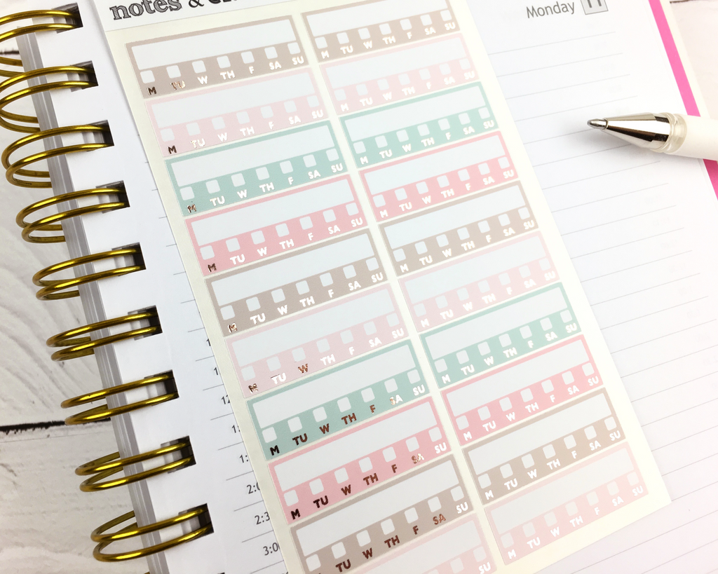 Habit Tracker Stickers - Notes & Clips