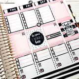 Pink & Black Typography Weekly Kit - Notes & Clips
