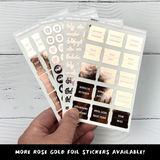 Rose Gold Foil Medium Monthly Tab Stickers - Notes & Clips