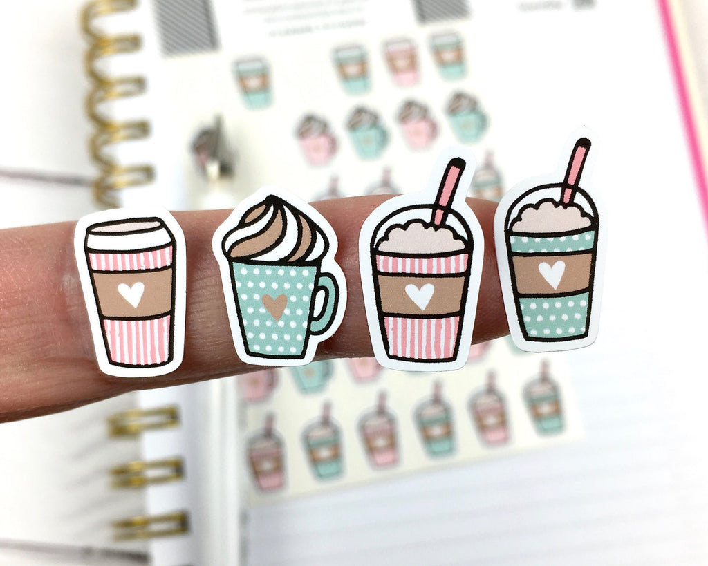 Cute Coffee Stickers - Notes & Clips