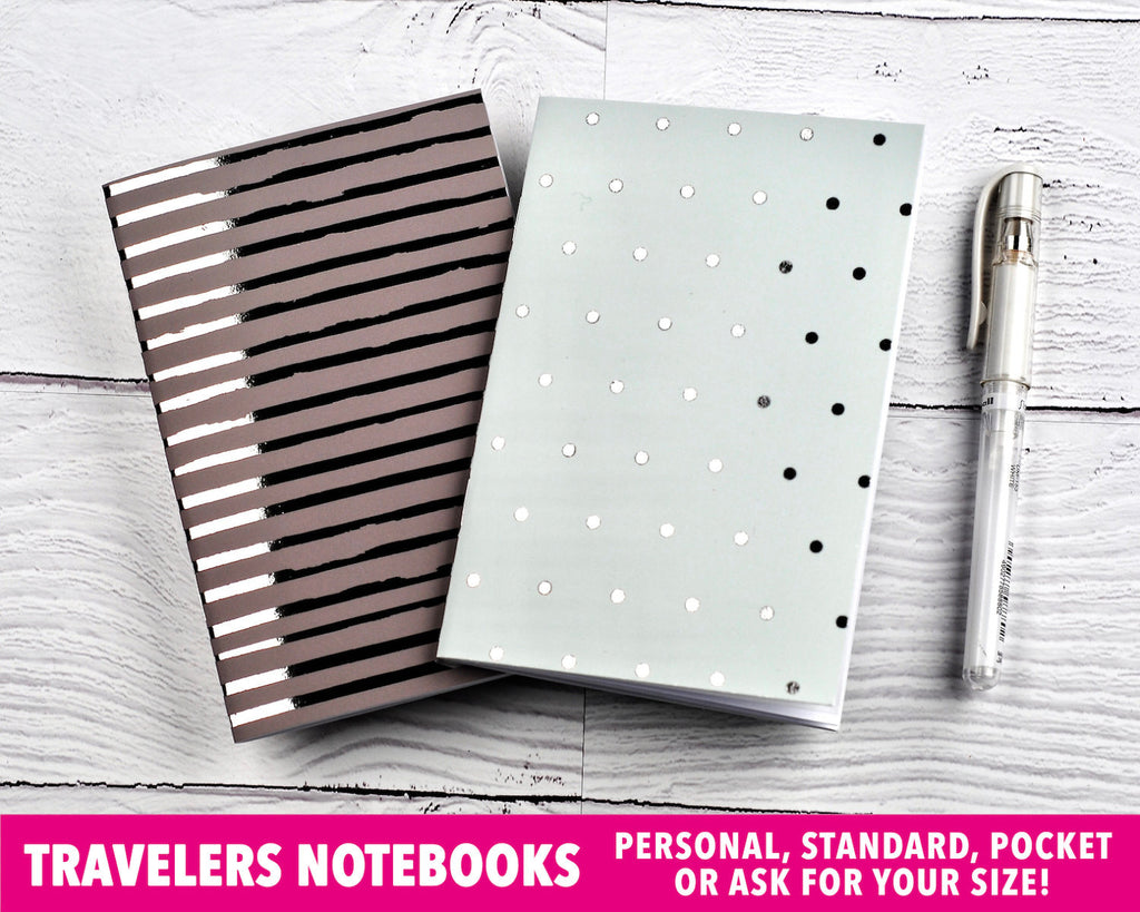 Mint & Brown Travelers Notebooks - Notes & Clips