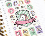 Unicorn Stickers - Notes & Clips