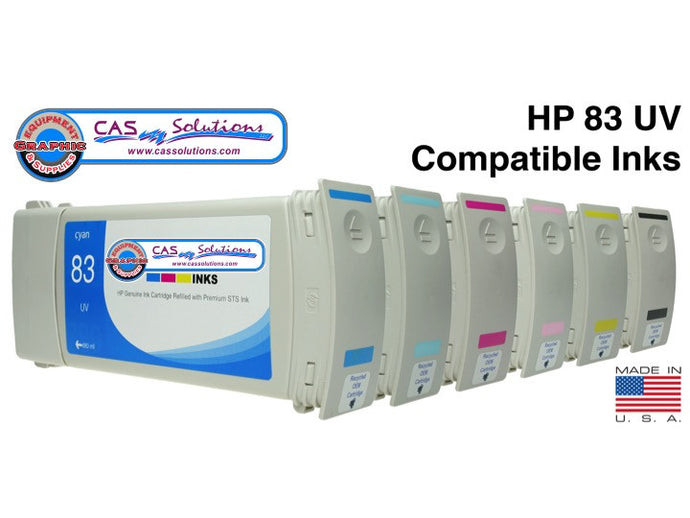 HP#83UV Compatibl Ink Cart-Light Cyan