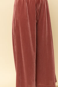 Wide leg velvet ribbed pants
