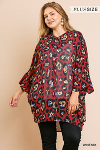 Sheer animal print button front dress - ALL SIZES