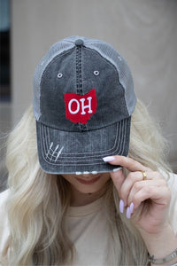 OSU distressed trucker hat