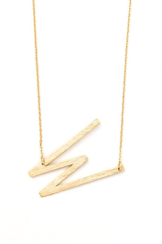 Brass letter necklace