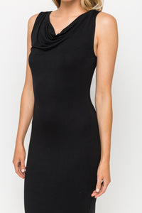 Sleeveless Dress with Keyhole Back Detail