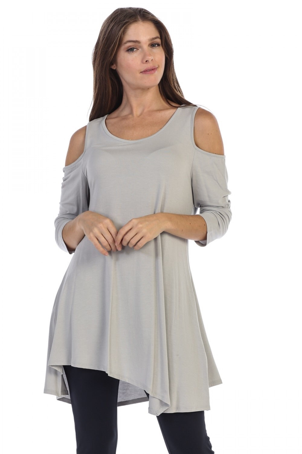 Open shoulder tunic/dress