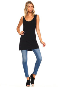 Classic luxury long tank-BLACK