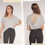 Hi-low top with back drape detail
